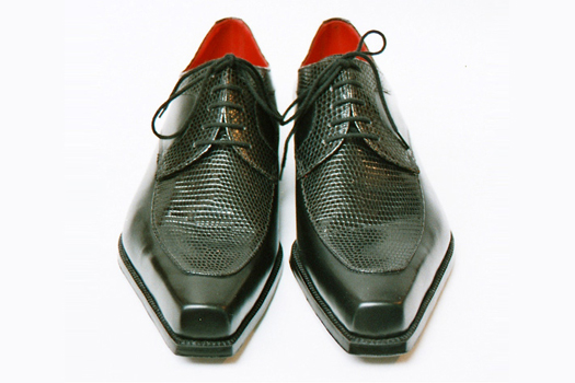 TRT-green lizard bespoke shoes by Carréducker