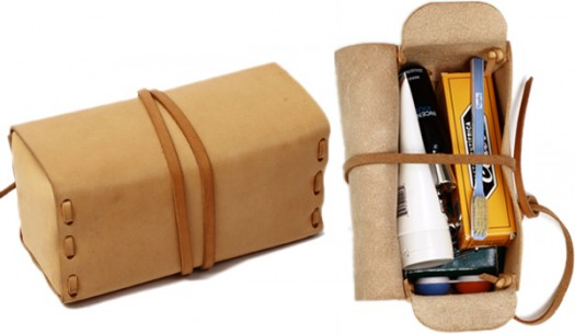 Kenton Sorenson Natural Leather Dopp Kit