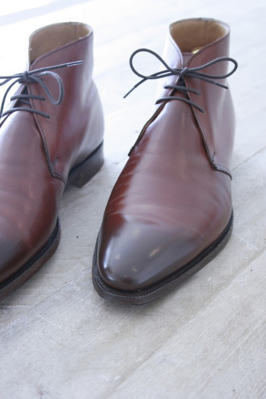 Crockett and Jones Chukka after Premium Shoe Care+ treatment