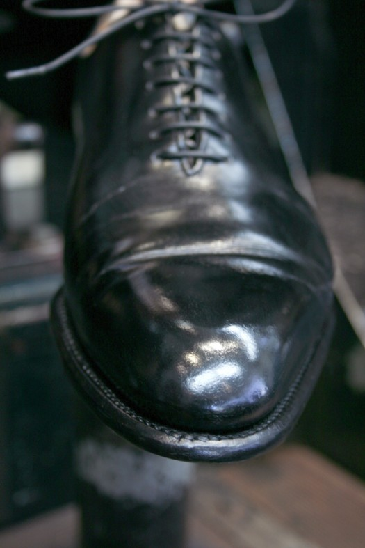 J.M. Weston after Premium Shoe Care+ treatment
