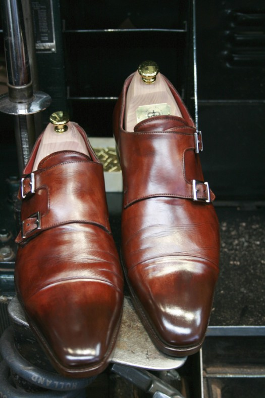 Santoni double monks after Premium Shoe Care+ treatment