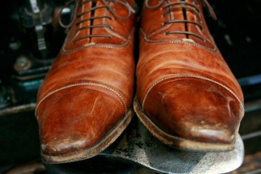 Santoni's before Premium Shoe Care+ treatment